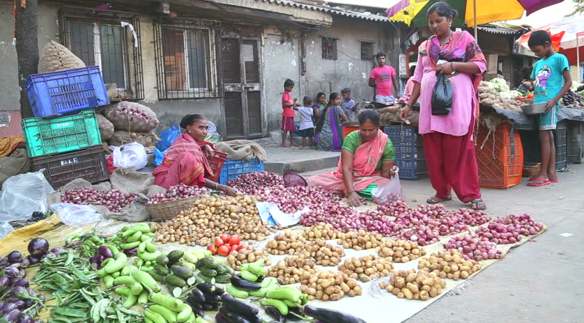 outdoor market in India