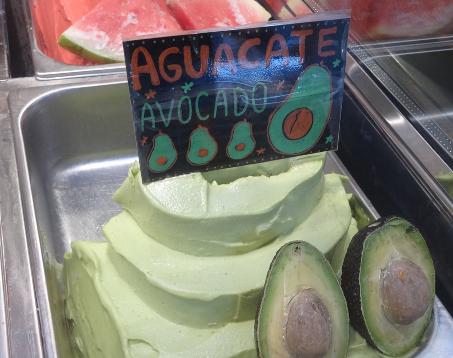 Avocado ice cream in Spain