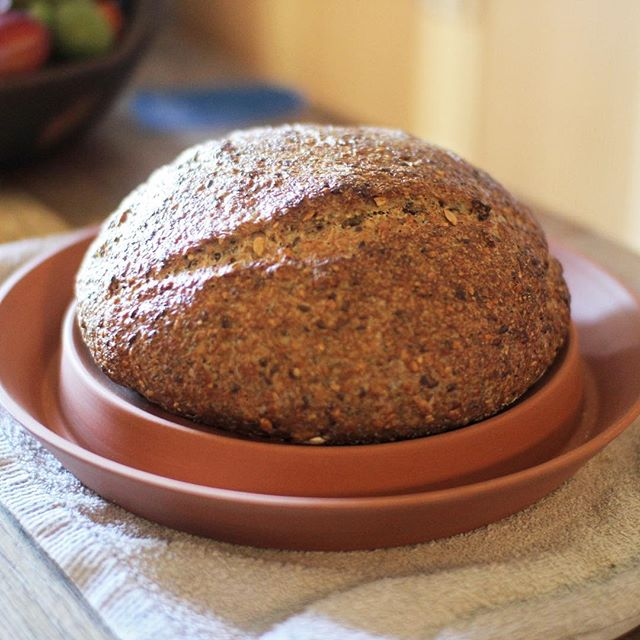 Wholemeal multiseed sourdough bake straight out of the Spring Oven baking book.