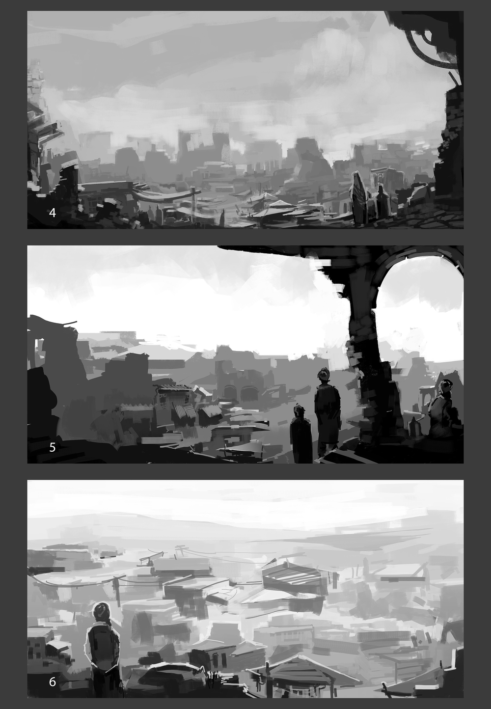 Roughs for Ruin Scene