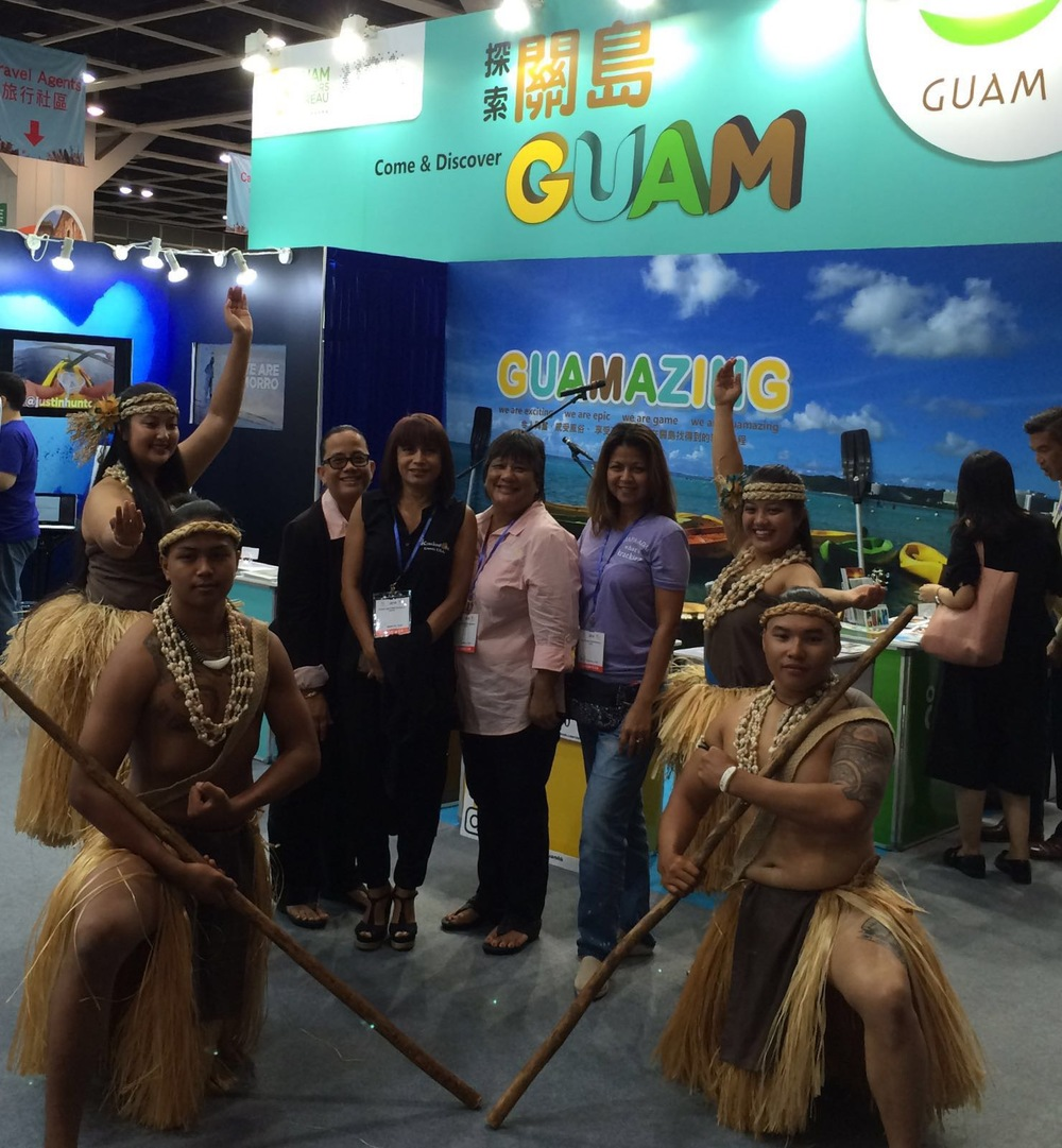 Kracked Egg Owners in attendance at The 30th International Travel Expo in Hong Kong. From Left: Jennifer Muna Aguon, Annmarie T. Muna, Antonita (Toni) Blas, and Lory Tydingco