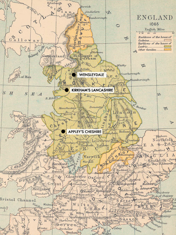 English Territorials Map