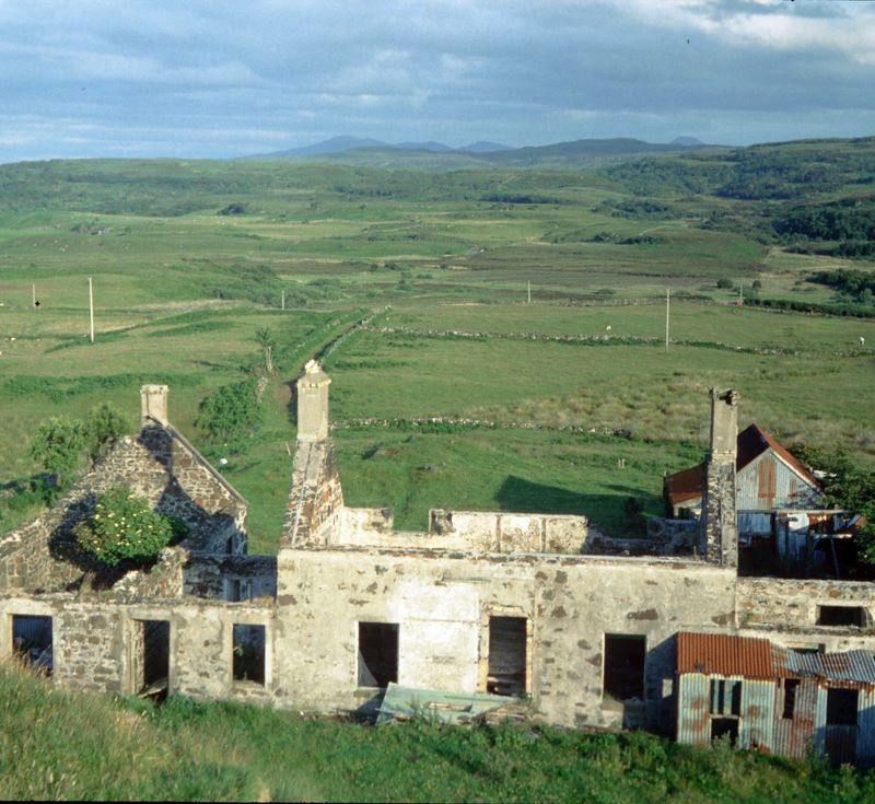The ruins at Sgriob-ruadh, which have become the Reade's farm and dairy.