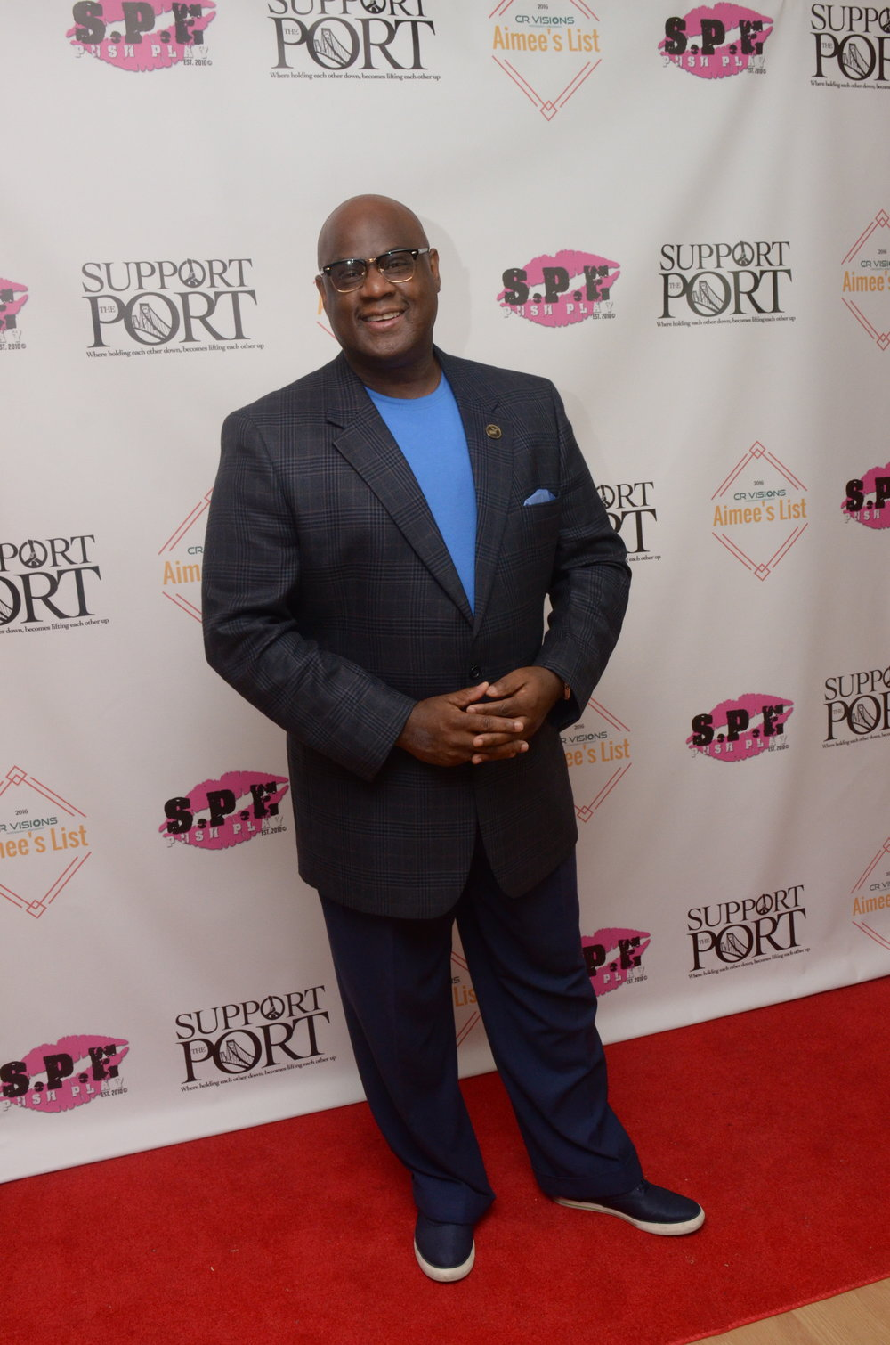 Pastor Campbell Of New Beginning Christian Church at Support The Port's Supportflix And Chill Red Carpet Premiere for Aimee's List
