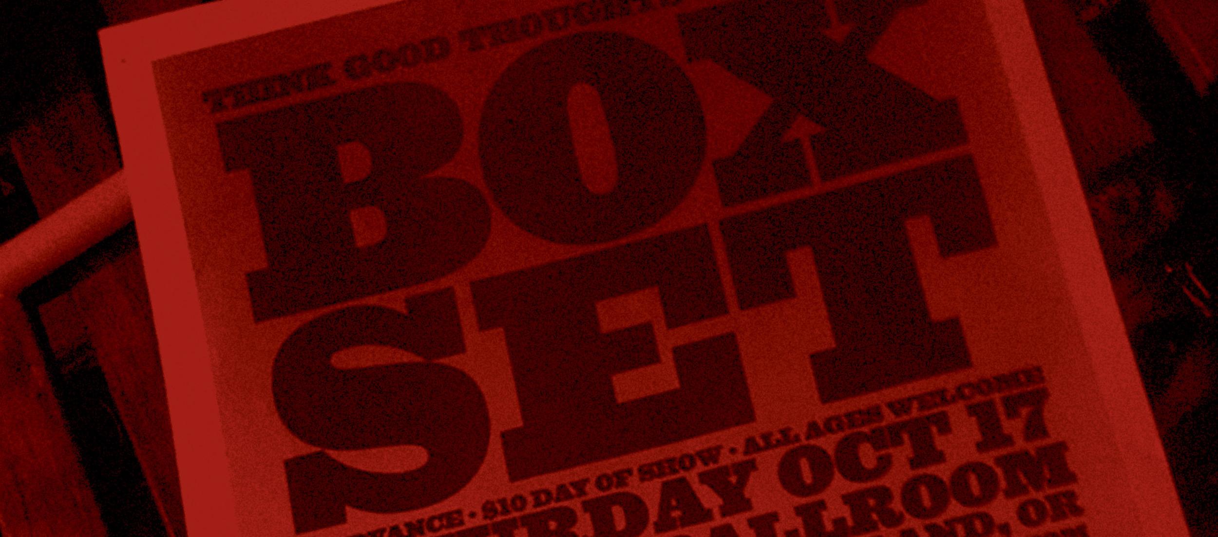 Box Set Rodeo Bundling 3 Maroon M Letteringred