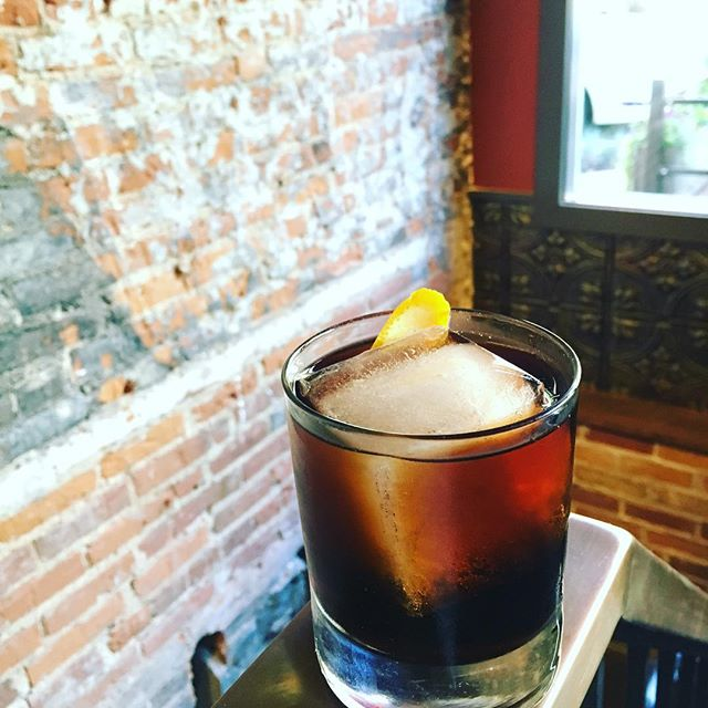 It's that time again! Beat the heat, and the week, with a Black Card:  papa's pilar blonde rum / cardamaro amaro / fernet vallet / agave nectar / black walnut bitters / peychauds bitters  #cocktails #craftcocktails #scratchcocktails #kalamazoo #downtownkalamazoo #fernet #amaro #happyhour #tgif #friday