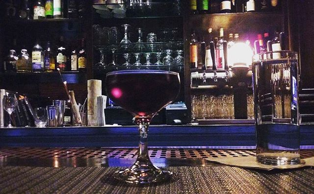 """Mitten Manhattan""  Traverse City Whiskey - Journeyman Featherbone Whiskey - Averna Amaro - Carpano Antica - Vanilla Cherry Bark Bitters. photoCred: @colleen_j  #drinkcraft #drinklocal #happyhour #onlydowntownkalamazoo #kalamazoomall #craftcocktails"