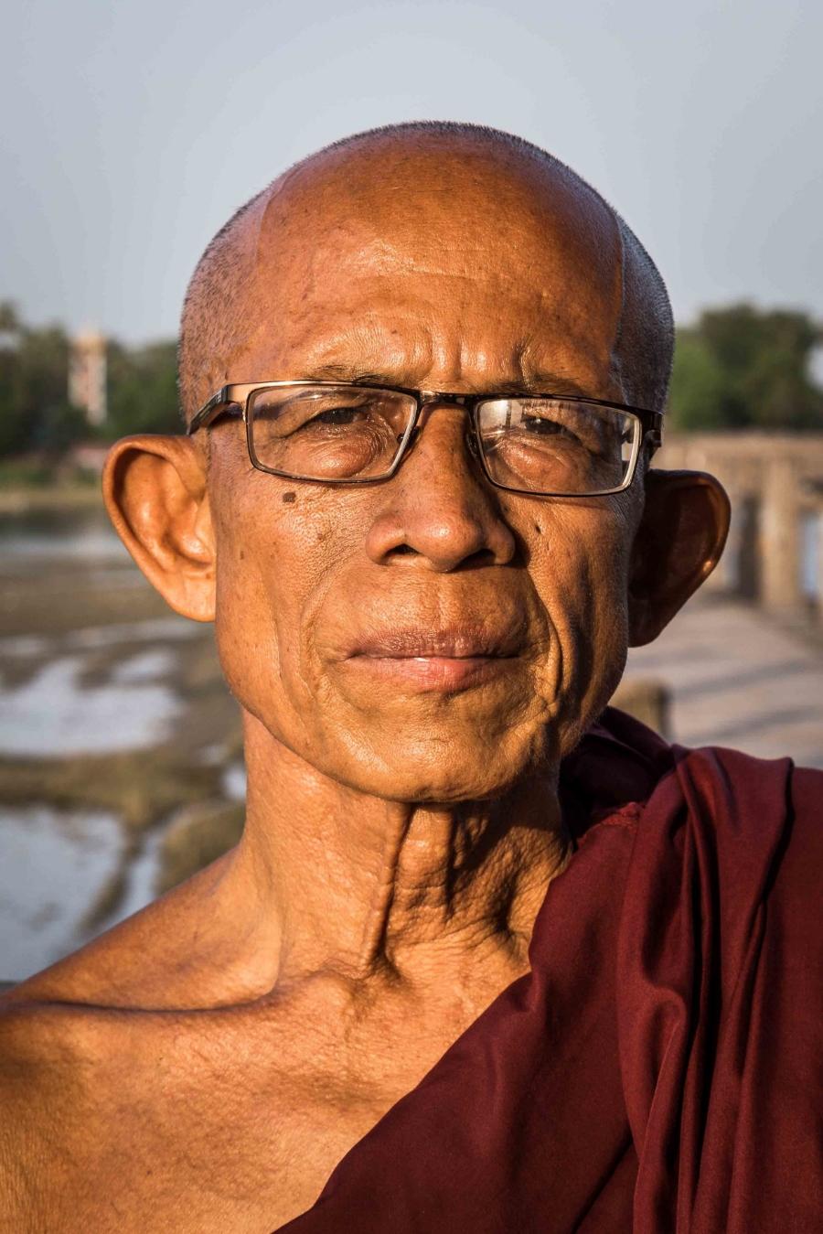 Buddhist monk in Myanmar