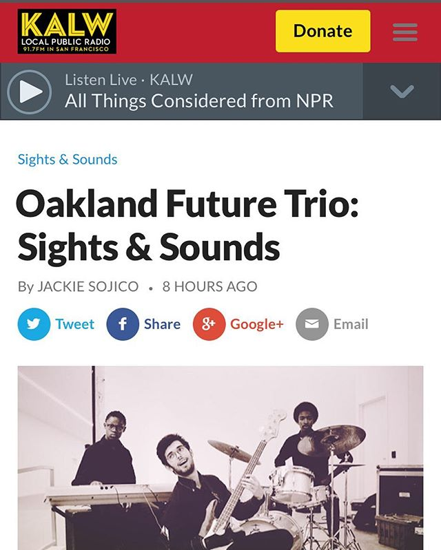 Thanks to @KALW you can hear our picks for entertainment around the Bay: http://kalw.org/post/oakland-future-trio-sights-sounds SEE YOU SUNDAY! #SightsandSounds #RedBayCoffee @6pm