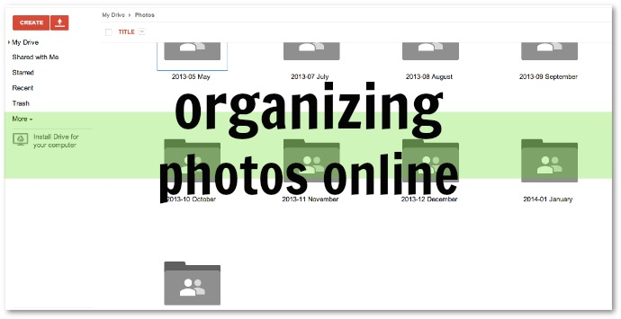 Organizing All of your Photos Online