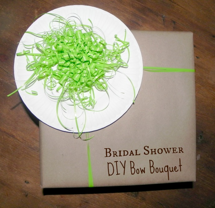 DIY Bridal Bouquet: Make the bouquet part of your gift wrapping, so you don't forget it