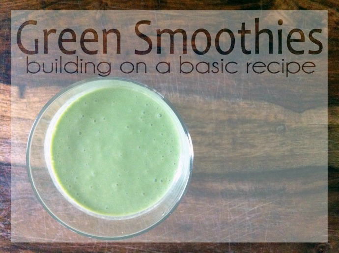 A basic green smoothie recipe