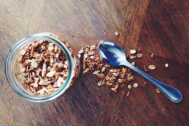 Coconut Oil Honey Almond Granola — Take a Bite