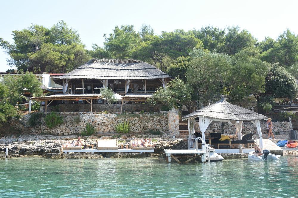 Laganini Lounge Bar Palmizana Harbour, Paklinski Island, Croatia 2016