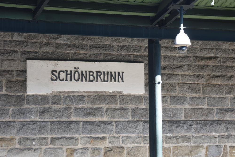 U-Bahn   Schön  brunn, Vienna 2016