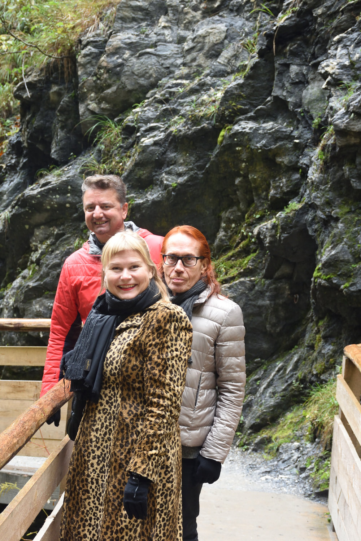 Bojan, Heidi & Mattiesko at Liechtensteinklamm, Austria 2016