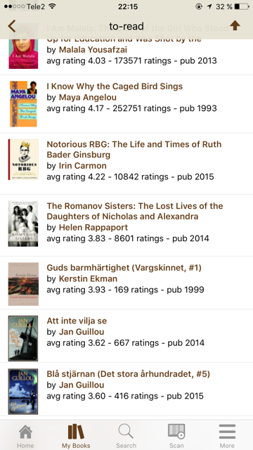 From To Read at Goodreads