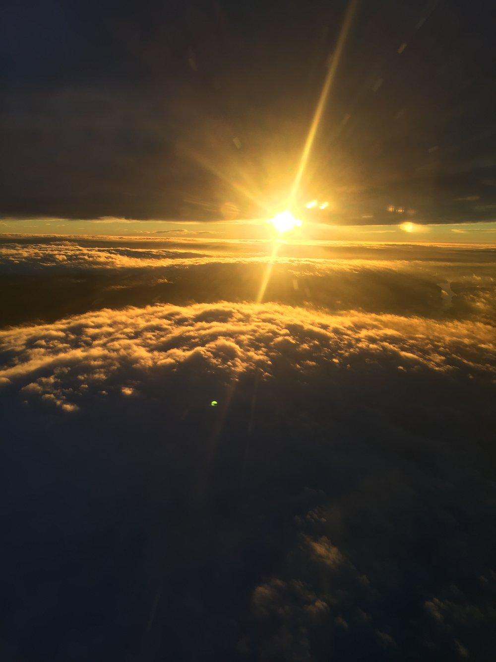 Gardemoen surrondings from above in sun rise