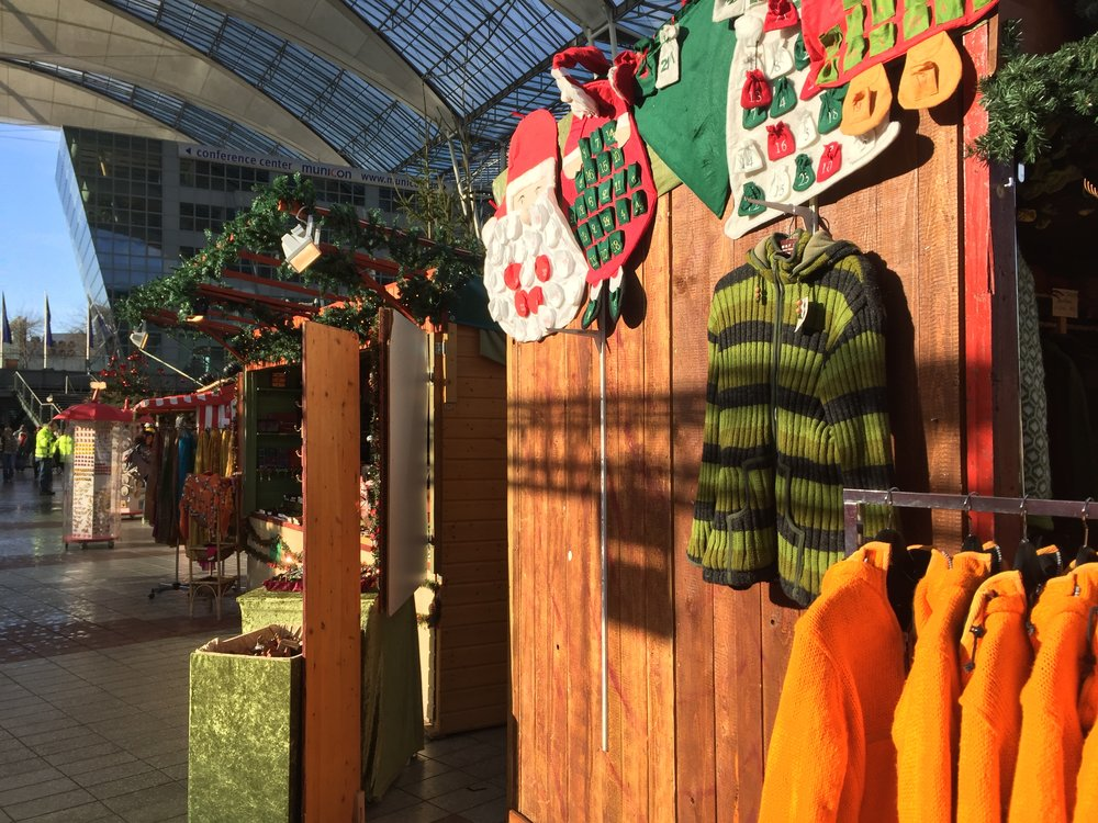 Christmas Market, Munich Airport 2016