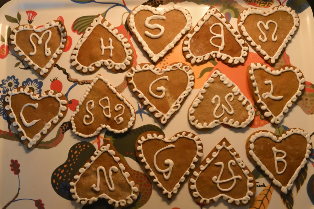Our decorated gingerbread cookies, Christmas 2016