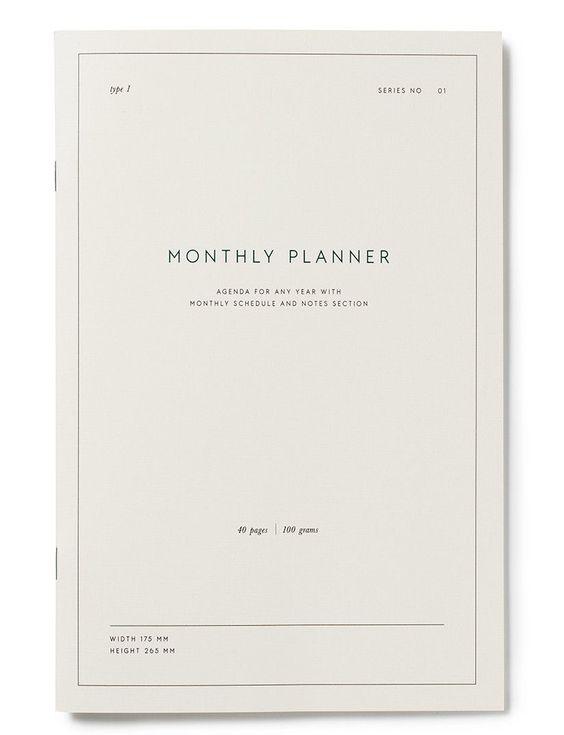 5) Monthly Planner by   Kartotek