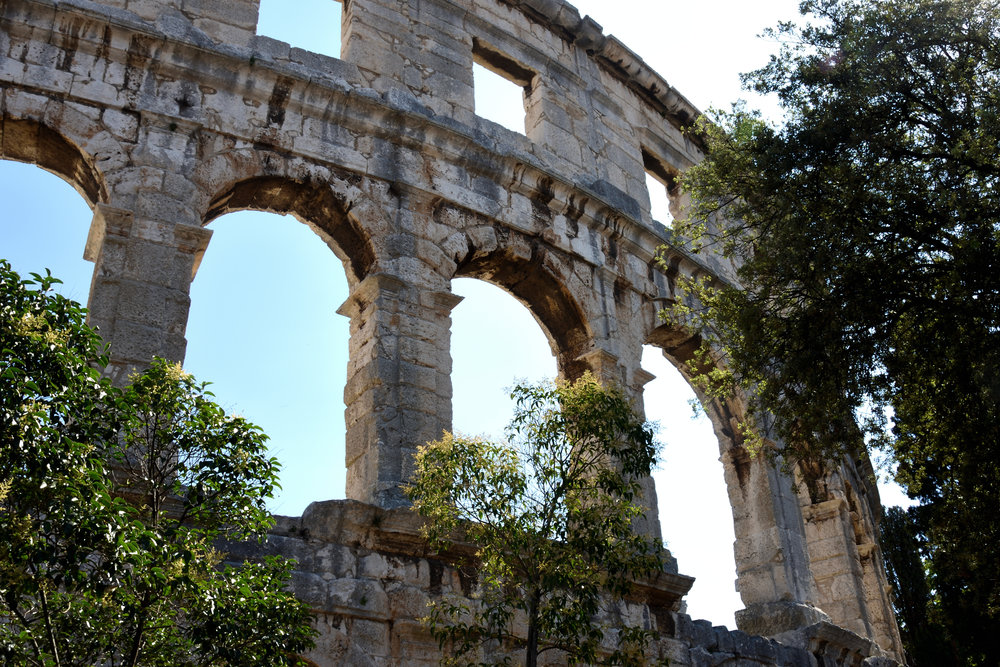 The Roman Arena, Pula, Croatia July 2017