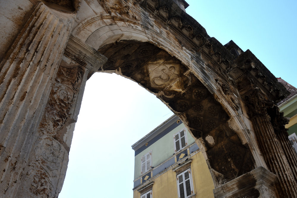 The Arch of Sergii, Pula, Croatia July 2017