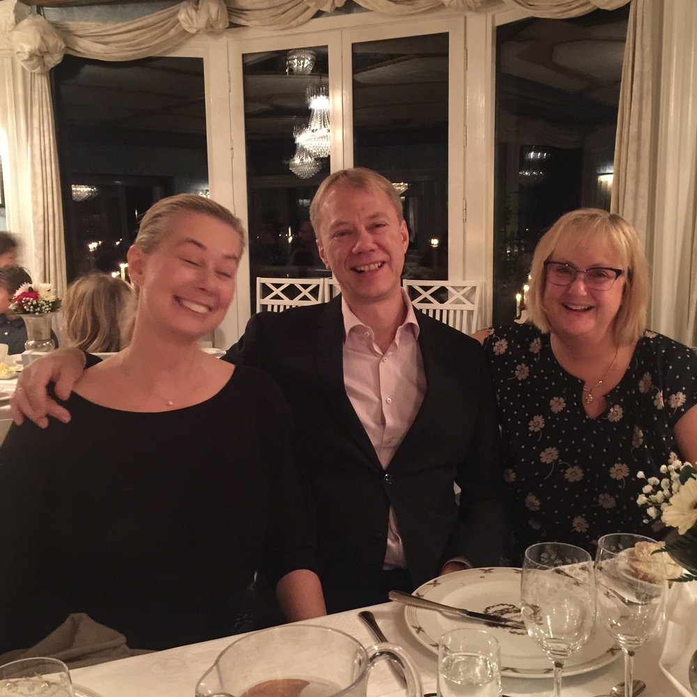 Me, my brother Bosse and my sister Ullis at Särö Värdshus, November 2015