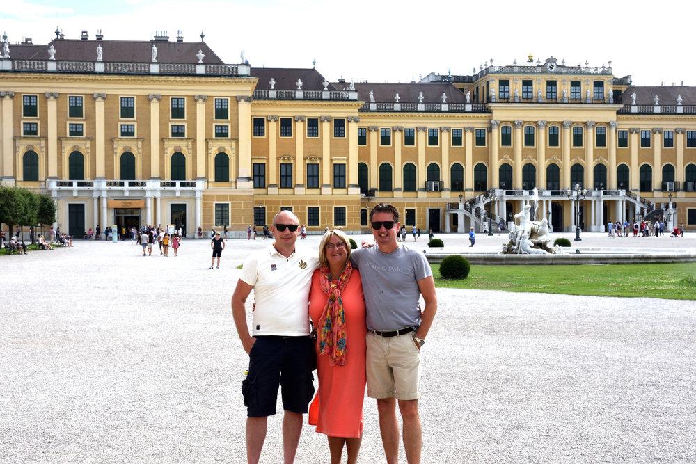 Stefan, Ullis & Bojan at Schönbrunn castle, Vienna July 2017
