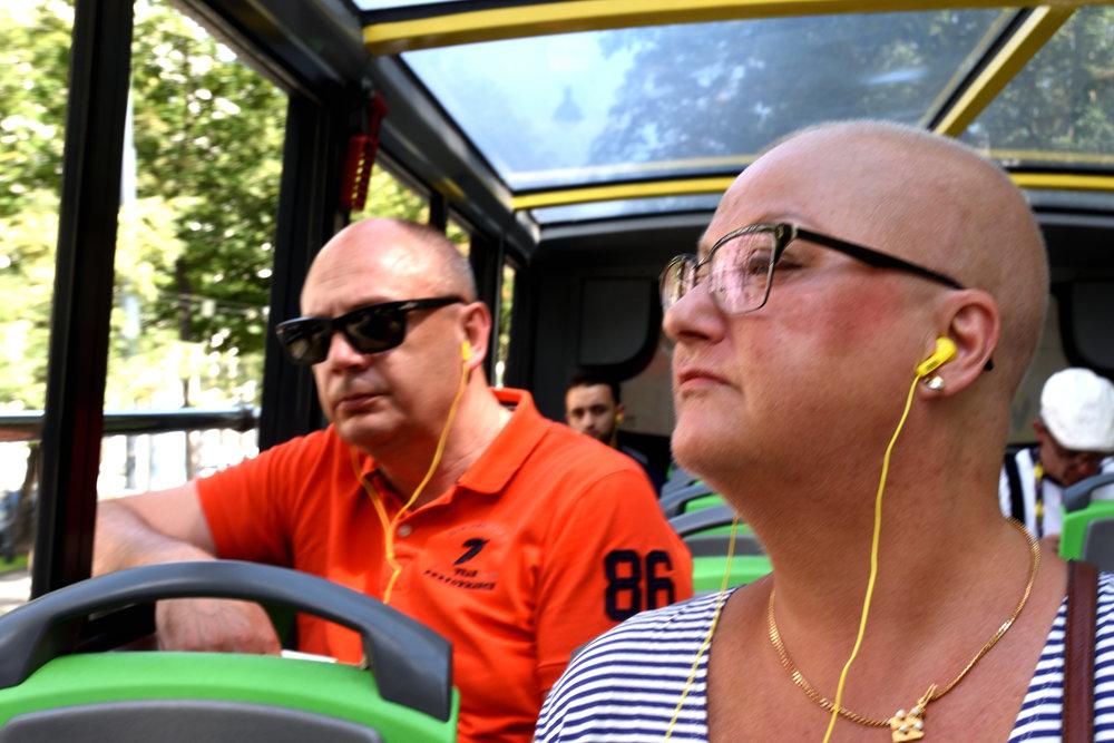 Stefan & Ullis, Hop on Hop off bus tour, Vienna July 2017