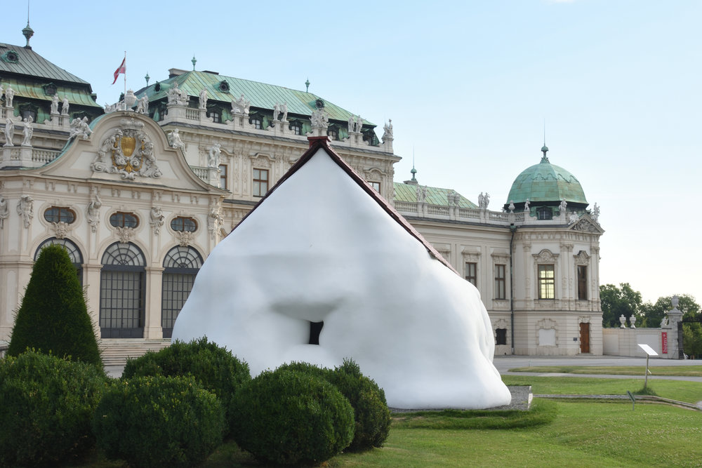 Erwin Wurm at Belvedere, Vienna july 2017