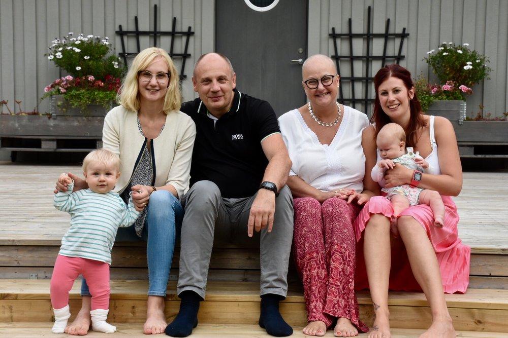 My family; Selma, Josefin, Stefan, Ullis, Linnea & Isa. Kungsbacka, Sweden August 2017