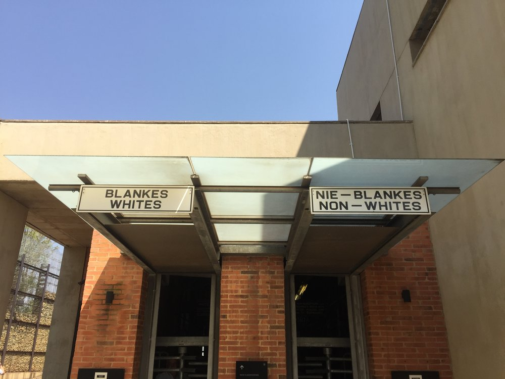 Apartheid Museum, Johannesburg, September 2017