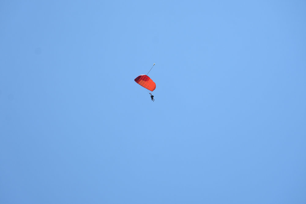 Skydiving at Diani Beach, Kenya, October 2017
