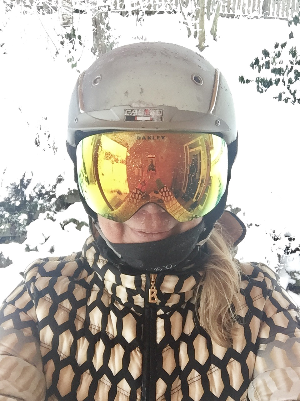 Me all wet after skiing in snowfall, Flachau, December 2017