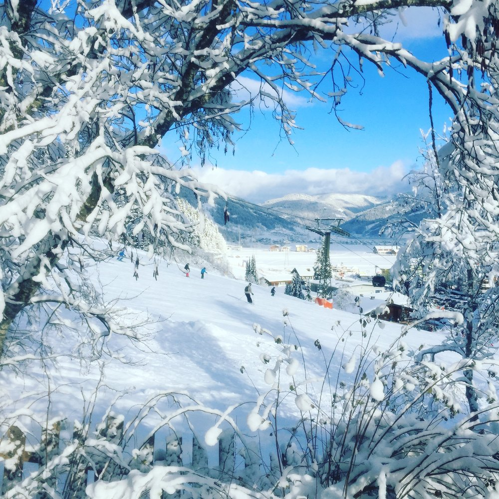 View from our living room window, Flachau 2017