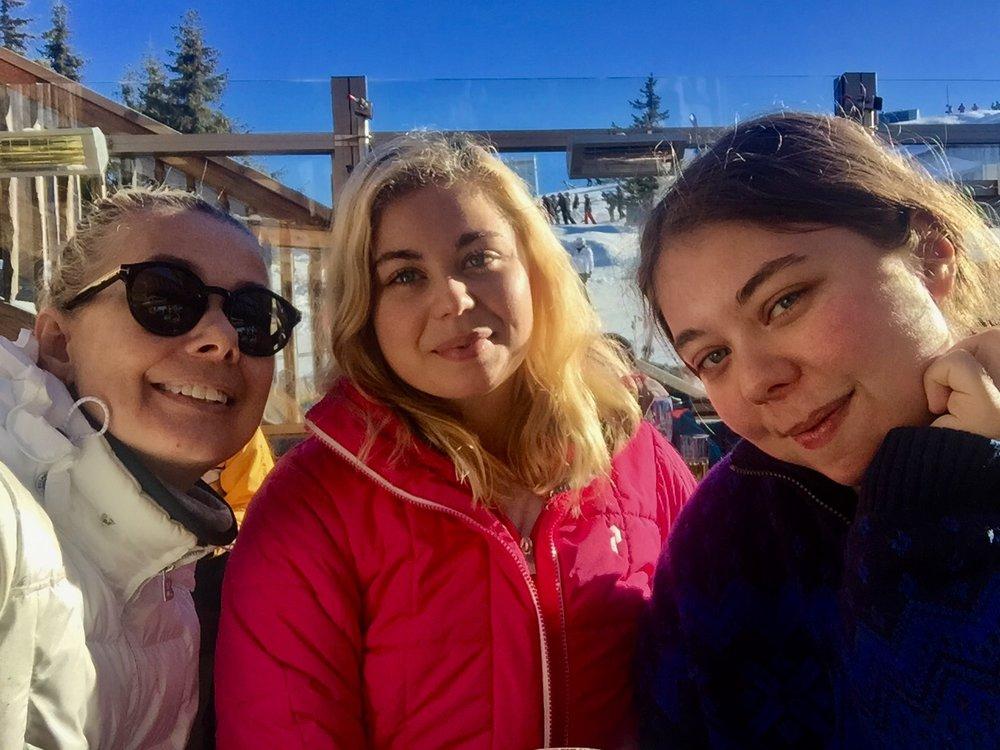 Me, Mimmi & Gaby in Flachau, 2017