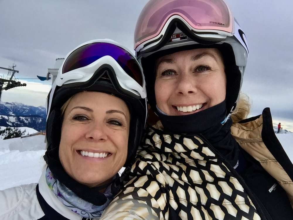 Andrea and me, Mulde Ski slope, Wagrain, Austria January 2018