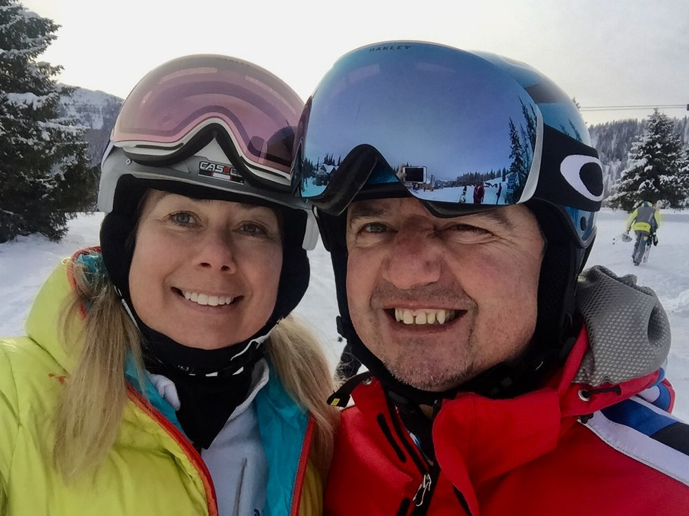 Me and my husband, Flachau, Austria, February 2018 (i.e. today)