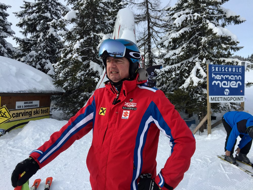 My husband the Ski Teacher, Flachau, Austria, February 2018