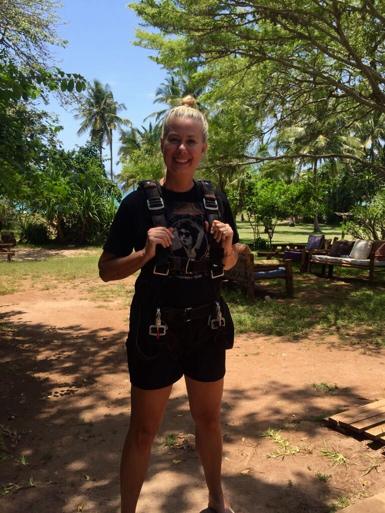 Me prepared for Skydiving at Dana Beach, Kenya October 2017