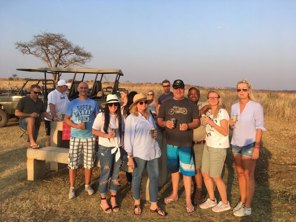 The South African Squad at Idwala Game Reserve, September 2017