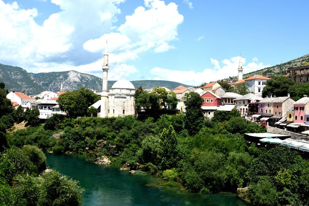 The river Neretva, Mostar, July 2018