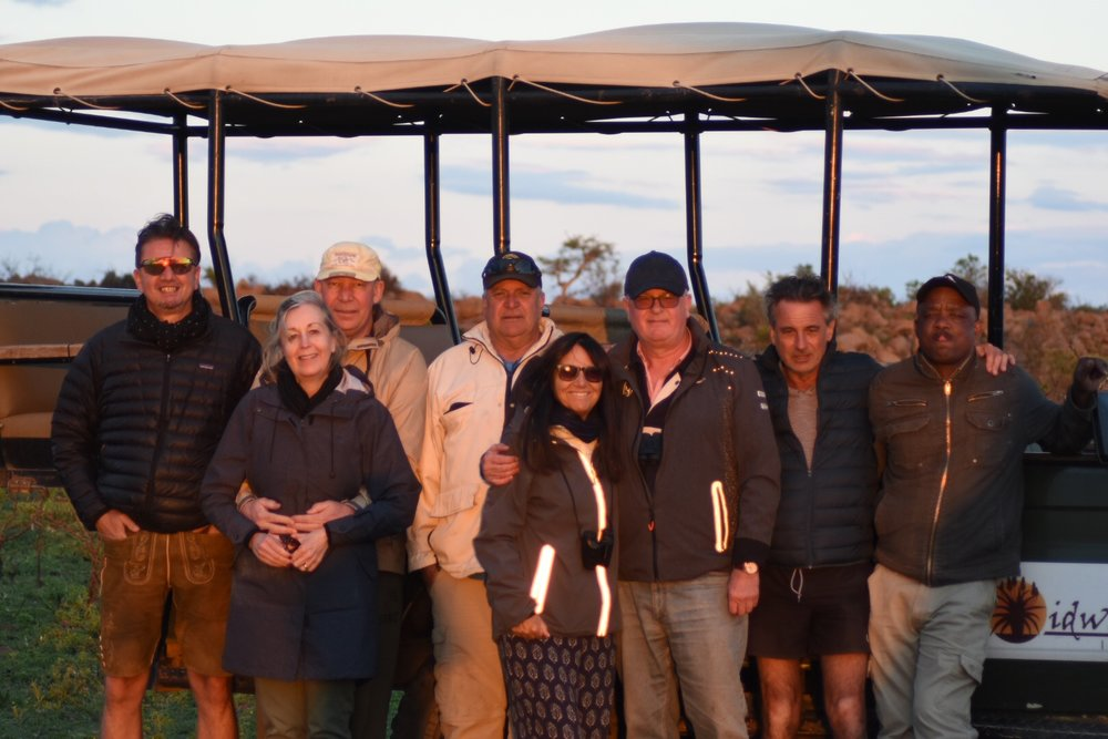 Bojan, Anne, Thomas, Keith, Angela, Guy, Tim & Jeff (our ranger).