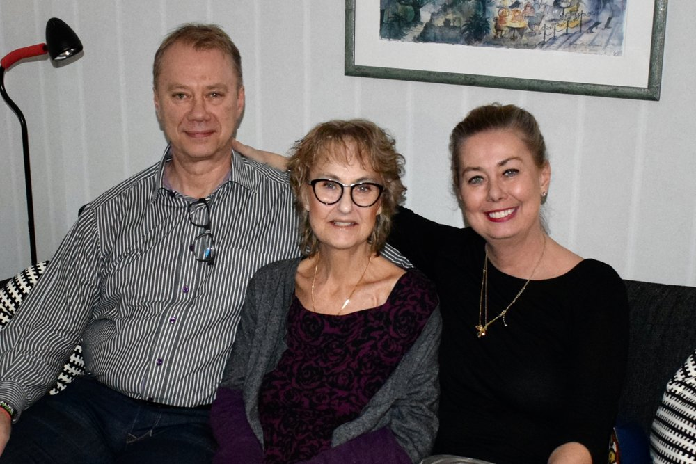 My brother, sister and me. March 2019