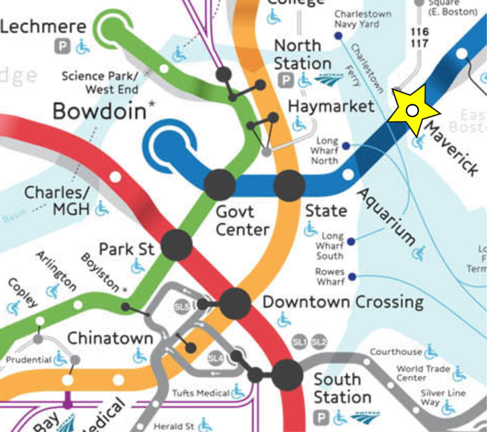 Maverick Station: 5 minutes to downtown with easy connections to Green, Orange & Red Lines