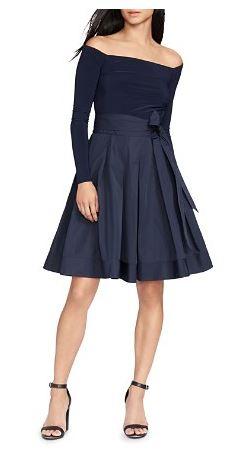 Bloomies Navy Skirt.JPG