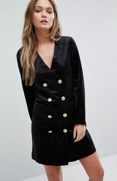 ASOS Double Breasted Velvet Dress.JPG