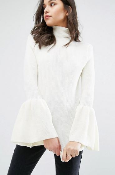 Boohoo White Wide Sleeve.JPG