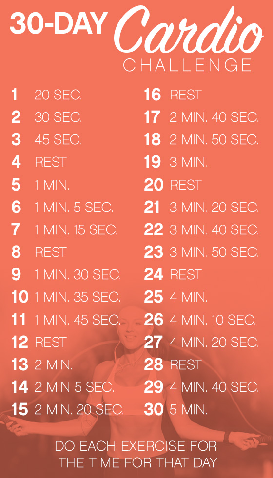 30 day heart healthy cardio challenge total woman gym spa